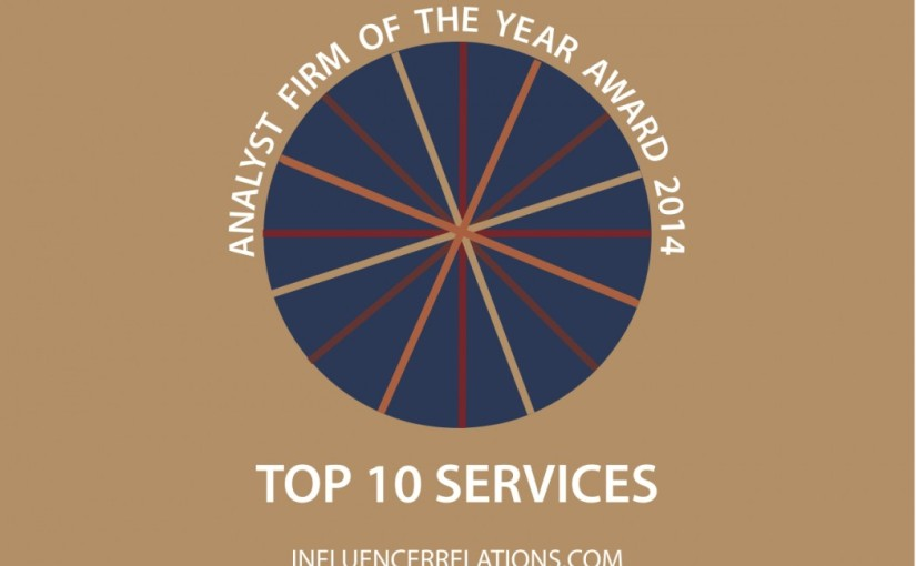 Announcing the 10 Outstandingly-Valuable Services Analysts