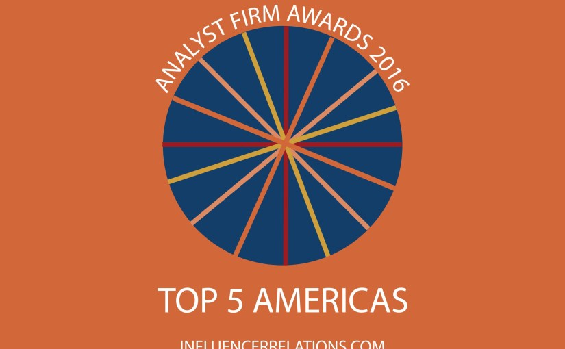 Gartner, Forrester, HfS & IDC top 2016 Americas Analyst Firm Awards